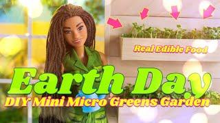 DIY - How To Make: Earth Day Miniature Micro Greens Garden   Real Edible Food