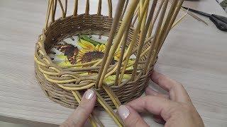 Красивые плетенки из газетных трубочек от юлии горбатенко