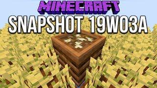 Minecraft 1.14 Snapshot 19w03a Composter! Make Bonemeal From Stuff!