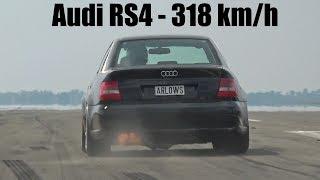 1250HP Audi S4 B5 Bi-Turbo 0-318 KM/H  LOUD START & ACCELERATIONS!