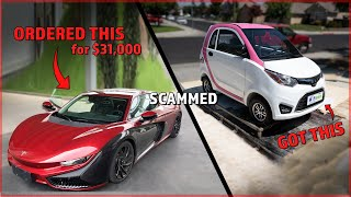 Chinese CAR SCAM EXPOSED  – They STOLE $31,000 and Sent me a PINK GOLF CART.