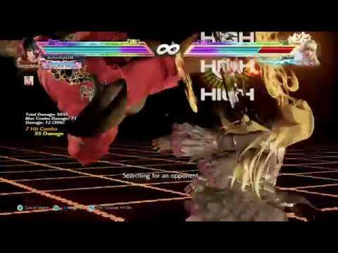 Tekken 7 Anna vs Heihachi frame trap combo during fight