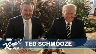 Sweaty Teddy Has Dinner with Donny & Facebook Upholds Trump Ban