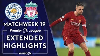 Leicester City v. Liverpool   PREMIER LEAGUE HIGHLIGHTS   12/26/19   NBC Sports