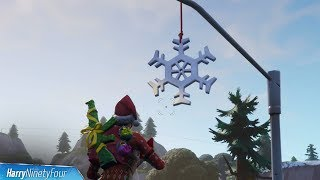 Fortnite Battle Royale - Snowflake Decoration Locations Guide (14 Days of Fortnite Challenge)