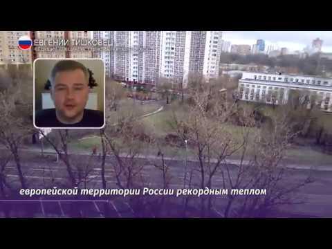 Аномально тёплая погода в России