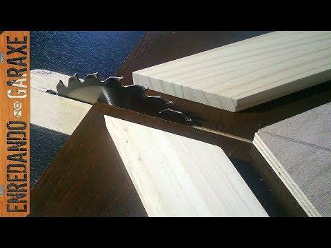 Guía para cortar uniones a inglete con la sierra de mesa