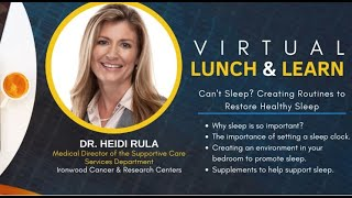 Creating Routines to Restore Healthy Sleep