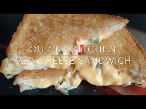 Veg cheese Sandwich | healthy & mouth melting | street style cheese sandwich