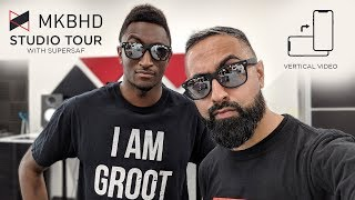 MKBHD Studio Tour with SuperSaf (Vertical)