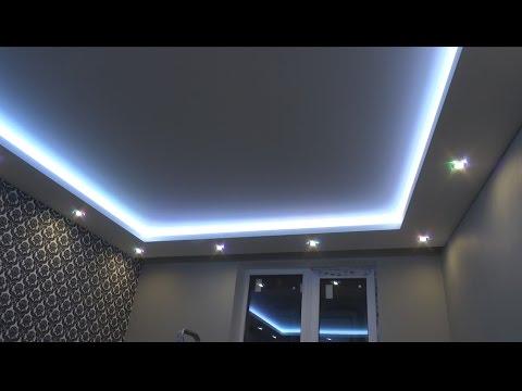 РЕМОНТ КВАРТИР СПб. Как сделать  потолочный короб с подсветкой своими руками. ( Ниша в коробе)