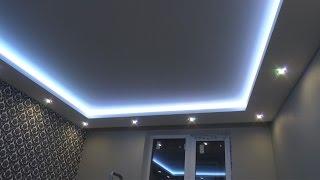 РЕМОНТ КВАРТ�Р СПб. Как сделать  потолочный короб с подсветкой своими руками. ( Ниша в коробе)