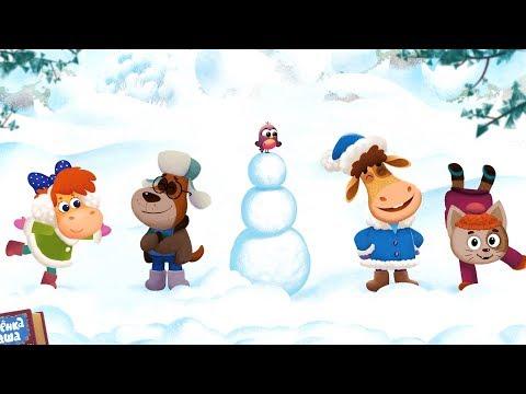 Бурёнка Даша. Снеговик | Песни для детей