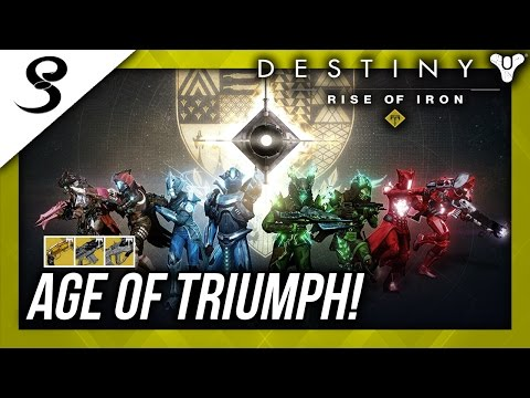 Destiny - AGE OF TRIUMPH LIVE! RETURN OF RAIDS! EXOTIC RAID WEAPONS AND MORE!!