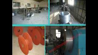 preview picture of video 'steel wire rewinding rolling unit for pvc steel wire hose machine'