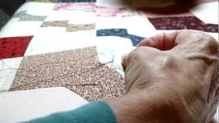 Hand Quilting - How to Bury a Knot.