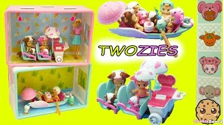 Twozies Twin Exclusives Babies Two-Sweet Row Boat + Two-Cool Ice Cream Cart Playset