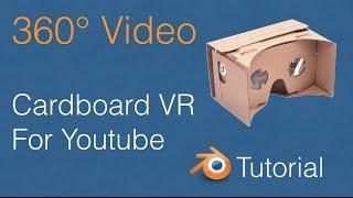 360 VR Video for Youtube Blender Tutorial