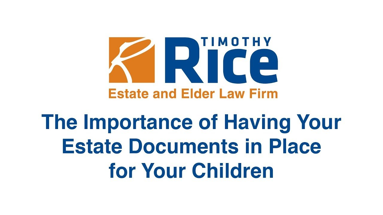 The importance of estate planning in your child's life.