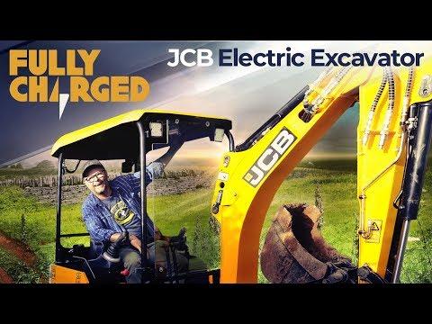 JCB Electric Excavator / Mini Digger JCB 19C-1E E-TEC zero emissions electric digger | Fully Charged