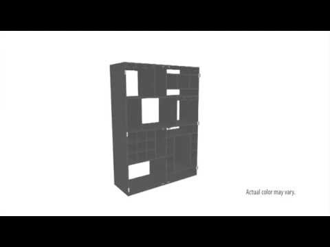 Video for Black Shadowbox Wine Cabinet