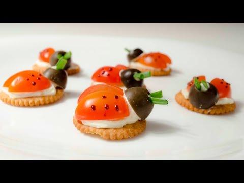 Mariquita Snack - Receta para los Niños - Ladybugs para Navidad