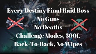 Destiny players take down all bosses without using guns