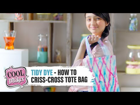 Download Cool Maker | Tidy Dye Station | How to Design a Criss-Cross Tote Bag HD Mp4 3GP Video and MP3