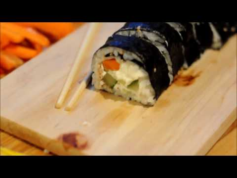 How to Make Sushi - without a bamboo mat!