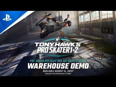 Tony Hawk's Pro Skater 1 + 2 - Warehouse Demo   PS4