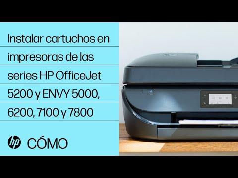 Instalar cartuchos en impresoras de las series HP OfficeJet 5200 y ENVY 5000, 6200, 7100 y 7800