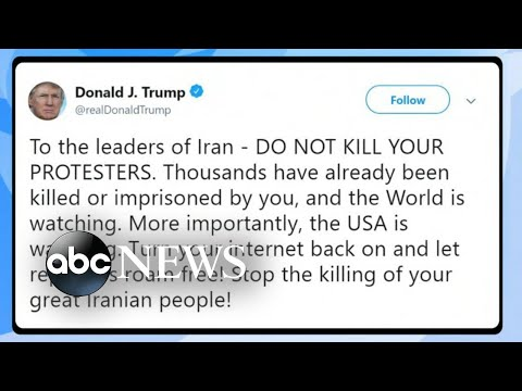 Trump warns Iran not to kill protesters, British royal family meets to talk 'Megxit' | ABC News