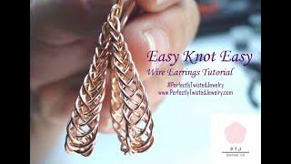 DIY Wire Earring Tutorial -  Easy Braided Earrings