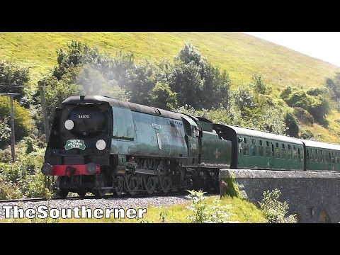 Southern Railway Bulleid Pacifics on the Swanage Railway 201…