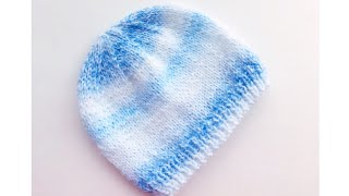 Super easy knit baby hat - Newborns to 6 months - For beginners- Knitting for Baby #10