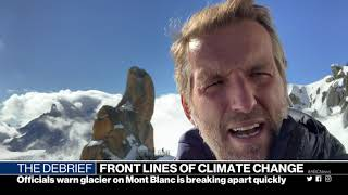 Mikey Kay's report on climate change, live from Mont Blanc, for ABC News