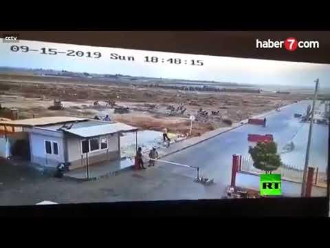العرب اليوم - شاهد: لحظة انفجار مفخخة في بلدة الراعي شمال سورية