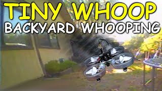 SETTING THE TINY WHOOP FREE - Backyard Whooping - Micro FPV Quadcopter - Blade Inductrix FPV