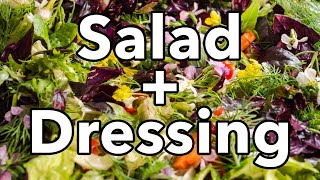 How to Make a Tasty Salad + Salad Dressing Every Time   #BigAssSalad
