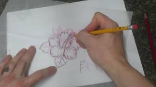 Tattoo Art Nerd - Anyone Can Draw : Tattoo Style Tropical Flower Hibiscus