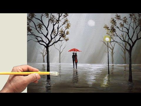 Paisagem de chuva