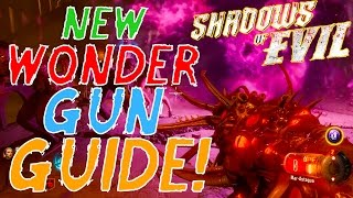 "SHADOWS OF EVIL - ""MAR-ASTAGUA"" WONDER WEAPON TUTORIAL/GAMEPLAY! Gersch Device Gun? How to Build!"