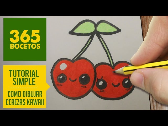 Video Como Dibujar Una Cereza Kawaii Paso A Paso Dibujos Kawaii
