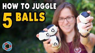 Learn to JUGGLE 5 BALLS - Advanced Tutorial