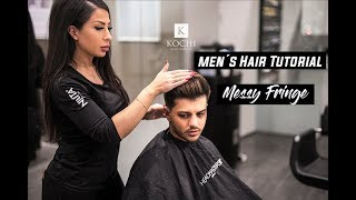 Soft Fade X Messy Fringe Tutorial | Mens Hairstyles #NEW 2018