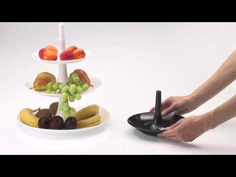 product video of the Babell Tiered Tray by Koziol