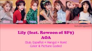 AOA - Lily (Feat. Rowoon of SF9) [Sub. Español + Hangul + Rom] Color & Picture Coded
