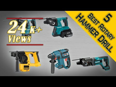 5 Best Rotary Hammer Drill 2017 Review | Best Cordless Rotary Hammer Drill for Concrete and Granite