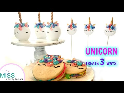 💜 UNICORN TREATS 3 WAYS! 💜- MISS TRENDY TREATS