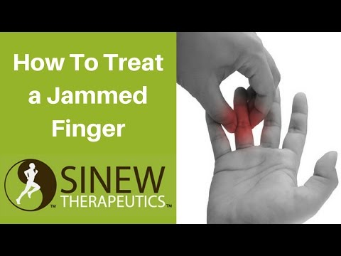 Video How To Treat a Jammed Finger and Speed Recovery